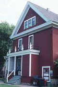 220 E FRANKLIN ST, a Queen Anne house, built in Sparta, Wisconsin in 1900.