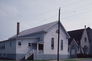 408 PARK AVE, a Greek Revival church, built in Oconto, Wisconsin in 1866.