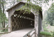 COVERED BRIDGE RD, 1 MI N OF INTERS OF STATE HIGHWAY 60 AND STATE HIGHWAY 143, a Other Vernacular wood bridge, built in Cedarburg, Wisconsin in 1876.