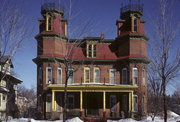 1416 MAIN ST, a Second Empire house, built in Stevens Point, Wisconsin in 1886.