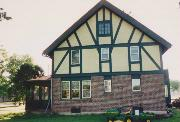 807 W RIDGE AVE, a Tudor Revival house, built in Galesville, Wisconsin in 1908.