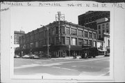 746-749 N 3RD ST, a Chicago Commercial Style retail building, built in Milwaukee, Wisconsin in 1916.