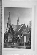 1136 S 5TH ST, a High Victorian Gothic church, built in Milwaukee, Wisconsin in 1879.