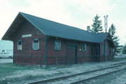 100 E MAIN ST, a Queen Anne depot, built in Waunakee, Wisconsin in 1896.