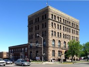 916 HAMMOND AVE, a Richardsonian Romanesque large office building, built in Superior, Wisconsin in 1890.