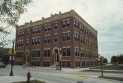 531 S 8TH ST, a Romanesque Revival industrial building, built in Sheboygan, Wisconsin in 1885.