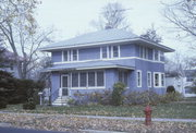 217 E LAKE ST, a American Foursquare house, built in Waupaca, Wisconsin in 1915.