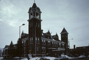 110 E 2ND ST, a Romanesque Revival city hall, built in Marshfield, Wisconsin in 1901.