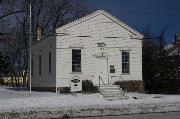 2740 W RYAN RD, a Greek Revival cemetery building, built in Franklin, Wisconsin in 1852.