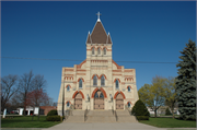 705 PARK AVE, a High Victorian Gothic church, built in Oconto, Wisconsin in 1870.