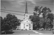 105 S MAIN ST, a Greek Revival church, built in Pardeeville, Wisconsin in 1865.