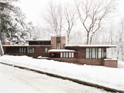 1224 HIGHLAND PARK BLVD, a Wrightian house, built in Wausau, Wisconsin in 1941.