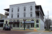 104 E WALWORTH AVE, a Italianate retail building, built in Delavan, Wisconsin in 1851.