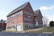 New Glarus Public School and High School, a Building.