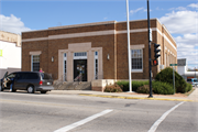 2 N MAIN ST, a Art Moderne post office, built in Clintonville, Wisconsin in 1935.