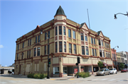 314-320 6TH ST, a Queen Anne recreational building/gymnasium, built in Racine, Wisconsin in 1886.