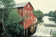 COUNTY HIGHWAY V JUST W OF STATE HIGHWAY 27, 3 M N OF AUGUSTA, a Front Gabled mill, built in Bridge Creek, Wisconsin in 1867.