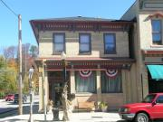 504 BROADWAY, a Italianate retail building, built in Sheboygan Falls, Wisconsin in 1850.