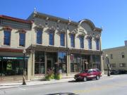 512-514 BROADWAY, a Italianate retail building, built in Sheboygan Falls, Wisconsin in 1880.