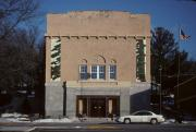 210 N WASHINGTON ST, a Spanish Colonial auditorium, built in St Croix Falls, Wisconsin in 1917.
