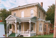223 W PLEASANT ST, a Italianate house, built in Portage, Wisconsin in 1877.
