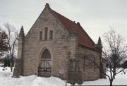 EMERY ST, FOREST HILL CEMETERY, a Neogothic Revival cemetery building, built in Eau Claire, Wisconsin in 1908.