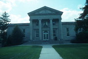 303 ELM ST, a Neoclassical library, built in Ripon, Wisconsin in 1930.