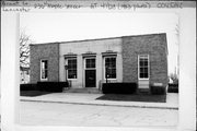 236 W MAPLE ST, a Art Moderne post office, built in Lancaster, Wisconsin in 1938.