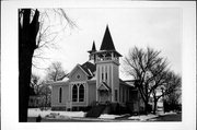 192 E HURON ST, a Stick Style church, built in Berlin, Wisconsin in 1898.