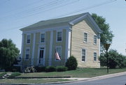 110 FRONT ST, a Greek Revival meeting hall, built in Mineral Point, Wisconsin in 1838.