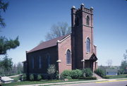 403 HIGH ST, a Gothic Revival church, built in Mineral Point, Wisconsin in 1845.