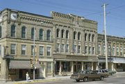 105-109 E RACINE ST, a High Victorian Italianate general store, built in Jefferson, Wisconsin in 1893.