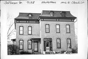 114-116 N CHURCH ST, a Second Empire house, built in Watertown, Wisconsin in 1877.
