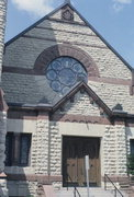 831 MAIN ST, a Richardsonian Romanesque church, built in La Crosse, Wisconsin in 1898.