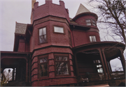 115 ELY PL, a Queen Anne house, built in Madison, Wisconsin in 1894.
