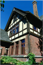 132 MARSTON AVE, a Tudor Revival house, built in Eau Claire, Wisconsin in 1904.