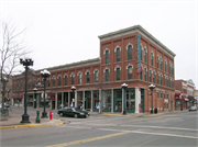 200-212 MAIN ST, a Italianate retail building, built in La Crosse, Wisconsin in 1873.