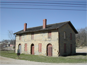13 COMMERCE ST, a Side Gabled depot, built in Mineral Point, Wisconsin in 1856.