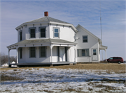 358 N Leonard St and WI 16, a Octagon house, built in West Salem, Wisconsin in 1859.
