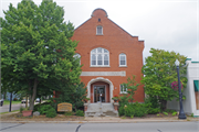 123 MAIN ST, a German Renaissance Revival library, built in Mosinee, Wisconsin in 1898.