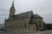430 N Johnson St, a Gothic Revival church, built in Port Washington, Wisconsin in 1884.