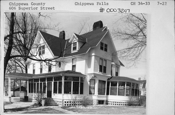 606 Superior St Property Record Wisconsin Historical Society