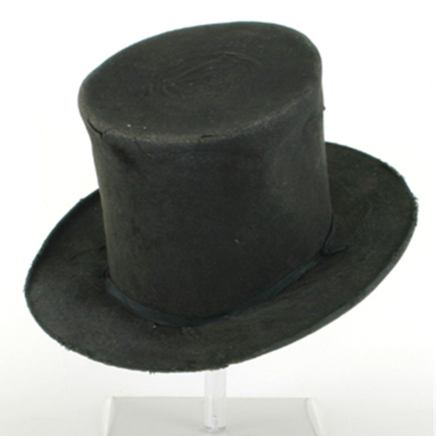 A black beaver top hat