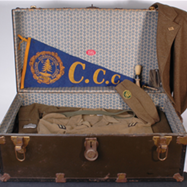 Open Conservation Corps Trunk with articles from the corps