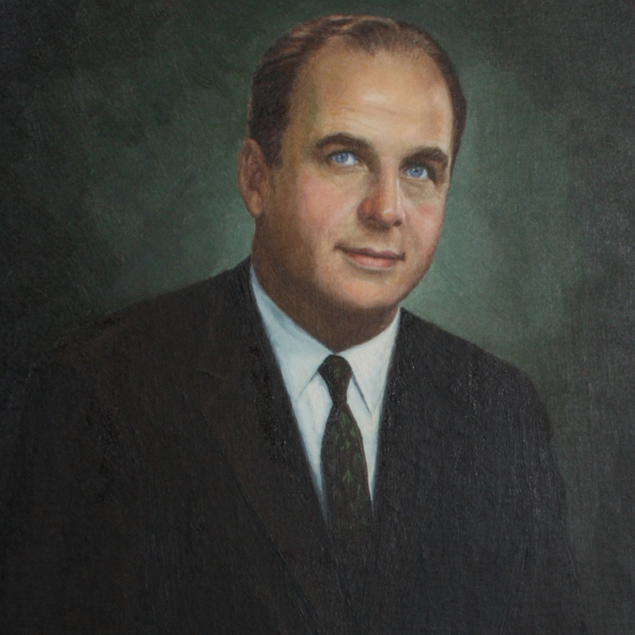 Traditional Oil Painting Portrait of Gaylord Nelson
