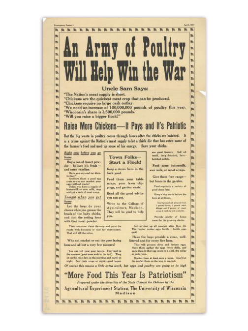 Army of Poultry Propaganda Poster