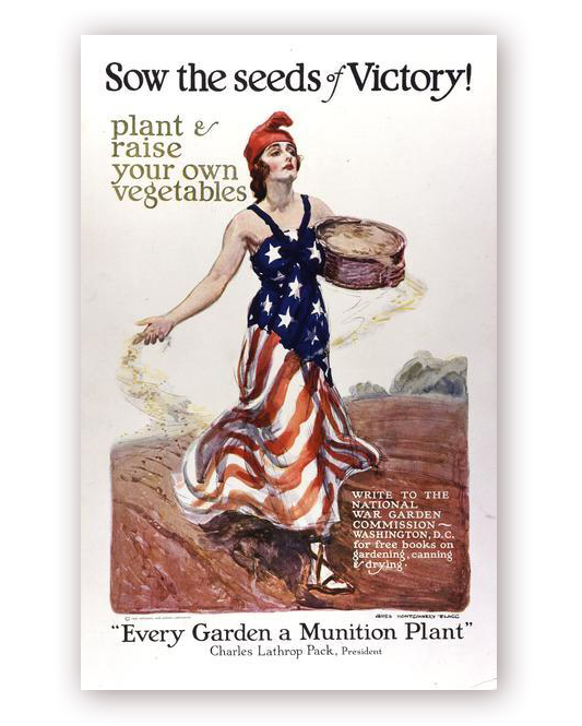 Sow the Seeds of Victory Propaganda Poster