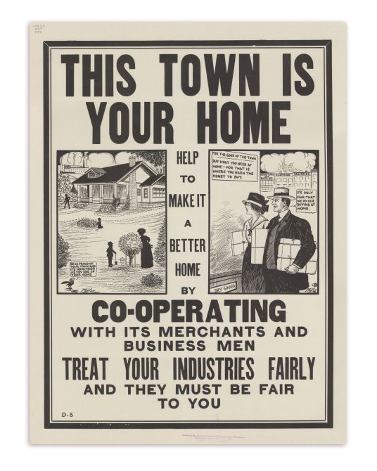 This Town Is Your Home Propaganda Poster