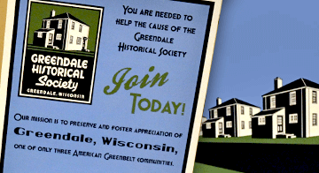 Membership poster for Greendale Historical Society.