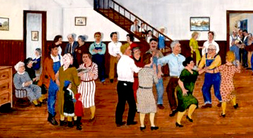 House Party, 1927. Painting from the exhibit Framed!